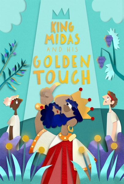 'King Midas and His Golden Touch' Concept Cover