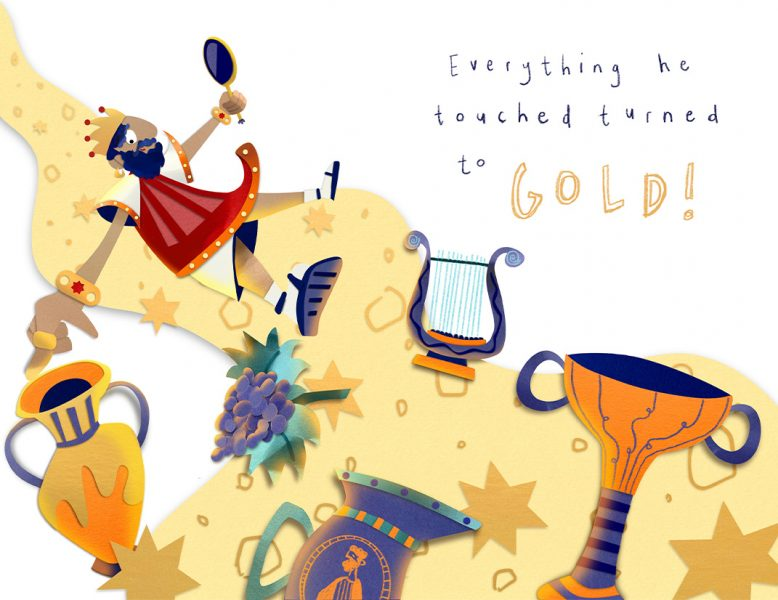 'King Midas and His Golden Touch' Concept Spread