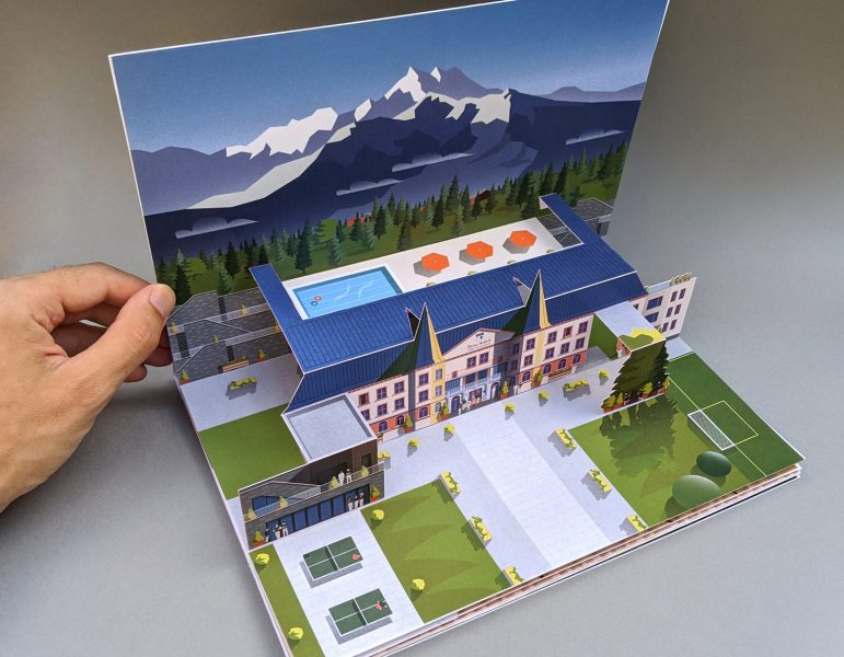 Pop-up book I illustrated, designed and produced