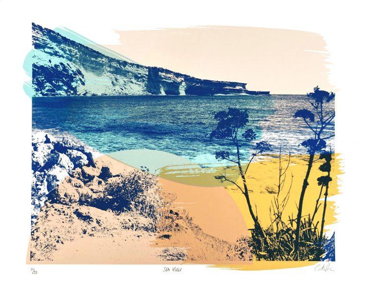 Sea View Screen Print