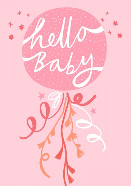 hello baby balloon girl