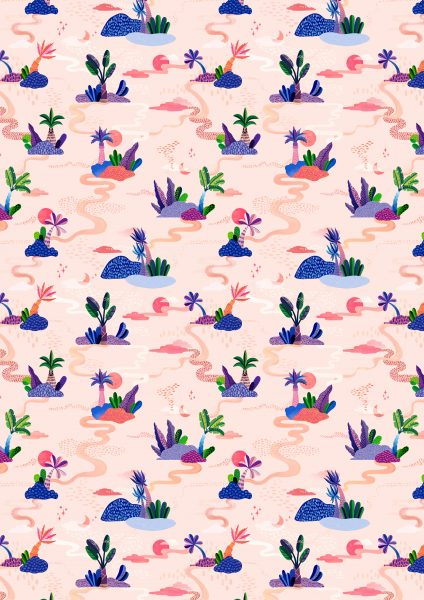 Islands and Palms Pattern