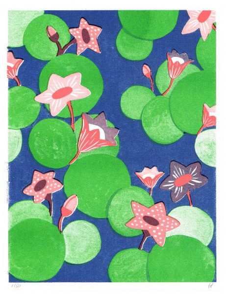 Watern Lillies Risograph