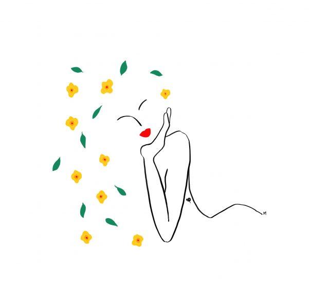 Extravagante - wine label illustration