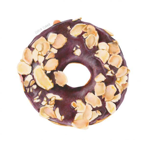 Chocolate Glazed Hazelnut Donut