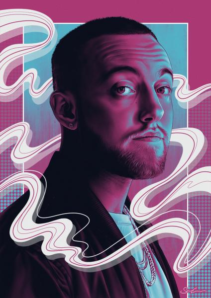 Mac Miller - Tribute Illustration