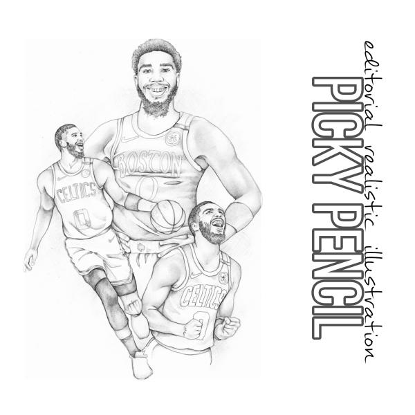 Jason Tatum sporting illustration