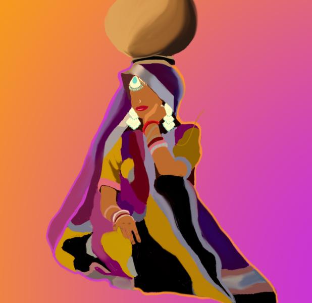 Mujer desierto