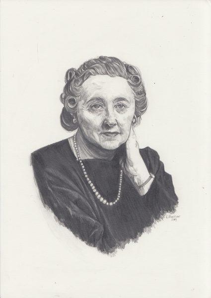 Agatha Christie Portrait