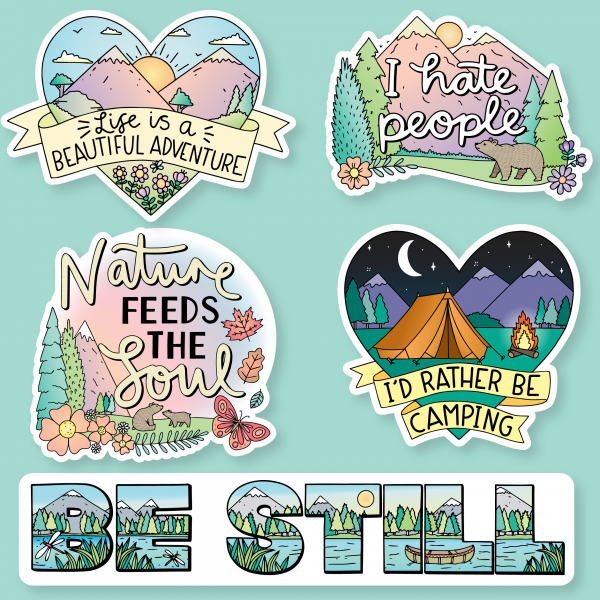 Nature Sticker Designs