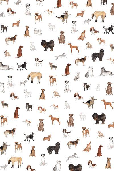 Illustrated dog pattern