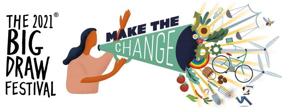 The Big Draw Make The Change illustration