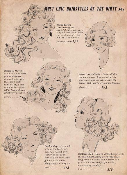 Mock Vintage Hair Magazine page