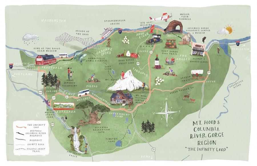 Mt. Hood & Columbia River Gorge Region Map