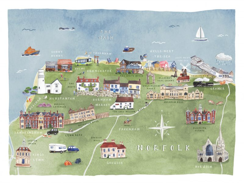 Illustrated map of Norfolk