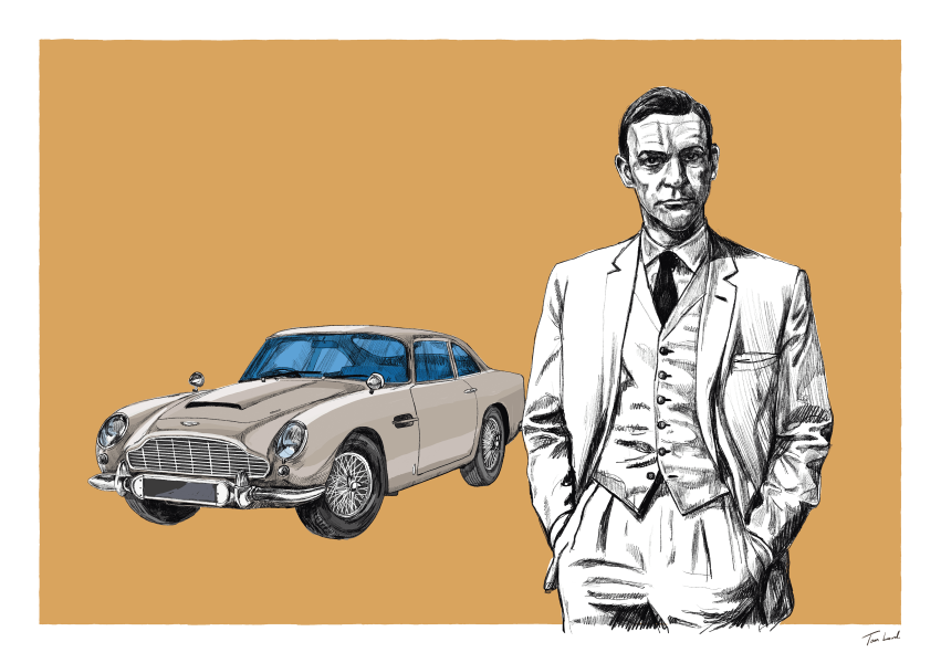 Sean Connery and the DB5