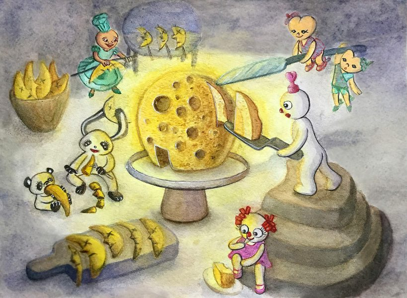 The elves of the dream forest are celebrating the Moon Festival.