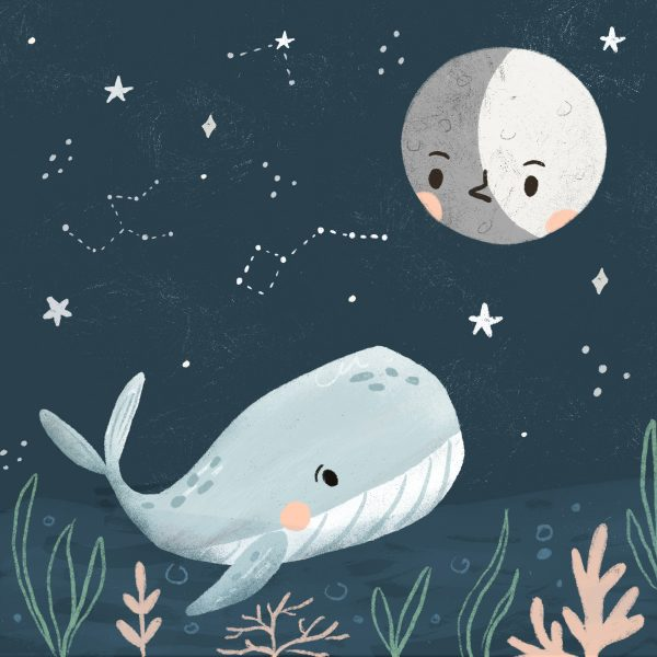 The whale singing to the moon