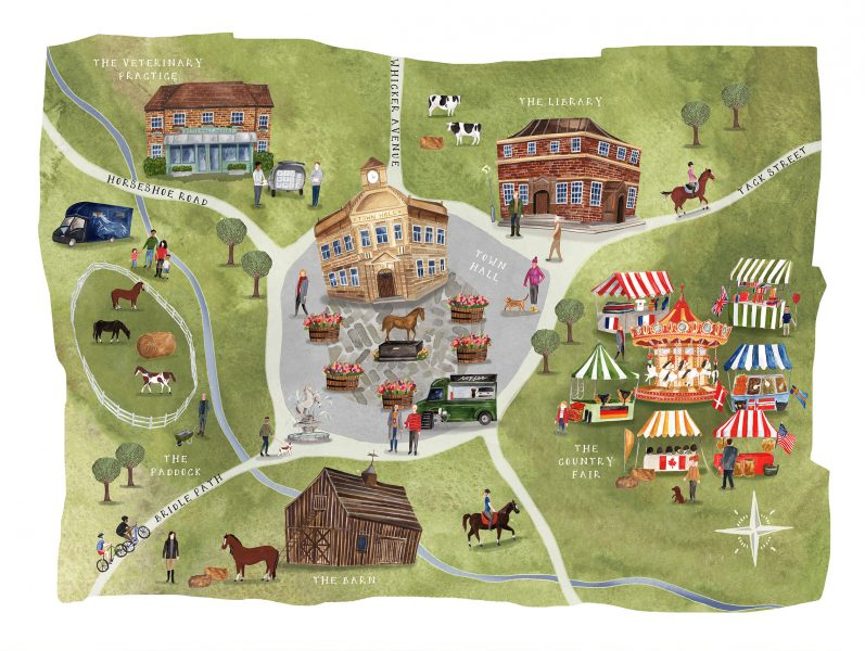 Helen Cox Virtual Village map