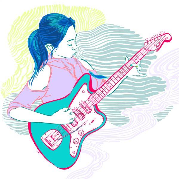 Electric Guitar Musician