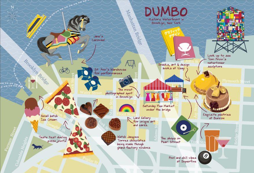 Map of Dumbo Brooklyn NY