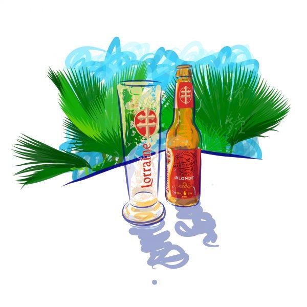 Lorraine Beer Product Illustration