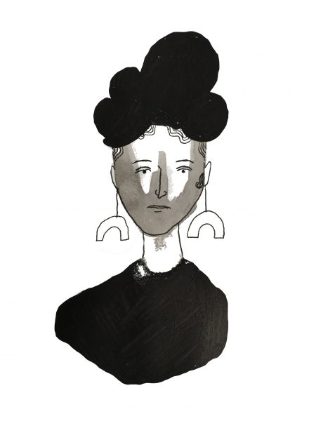 Lady In Black Ink