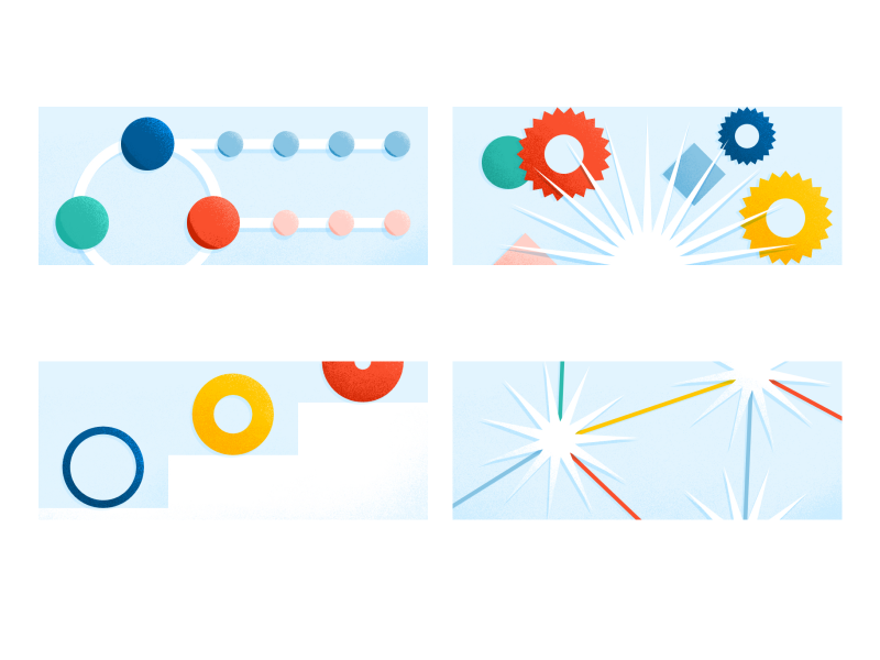 Abstract Scrum Small Illustrations