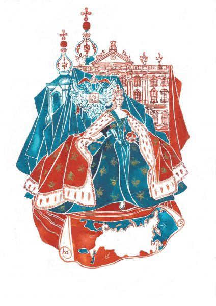Catherine the Great(personal work inspired by Simon Serbag Montefiore's book The Romanovs)