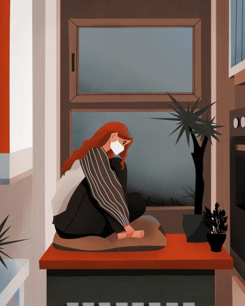 After Covid Depression Illustration