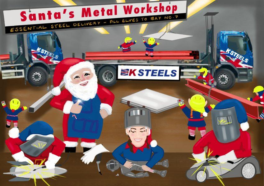 Steel Delivery at Santa's workshop - animation