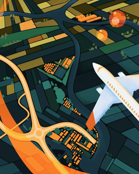 Plane landscape