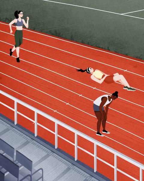Run and Sports Illustration