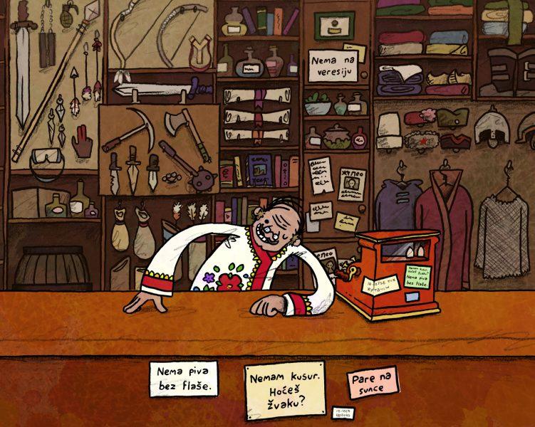 Avetinja shop scene