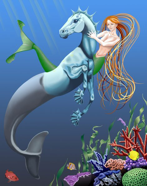 Hippocampus and Mermaid