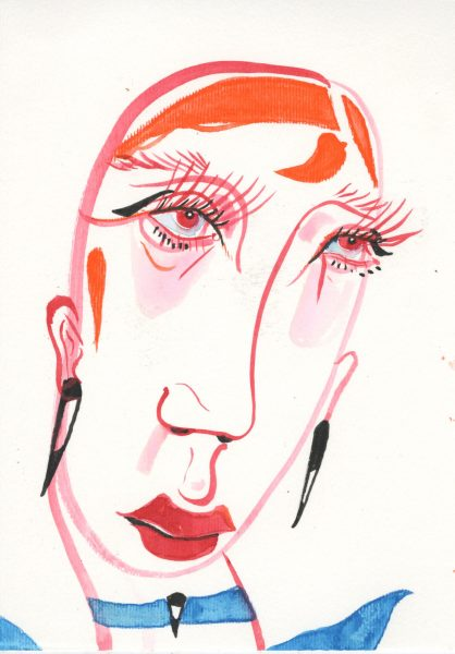 ink portrait (personal work)