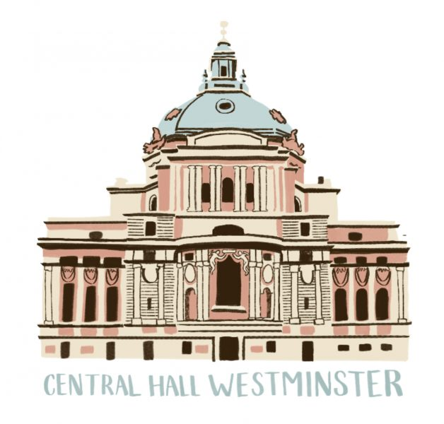 Central Hall Westminster, detail from map for Victoria and Westminster BID