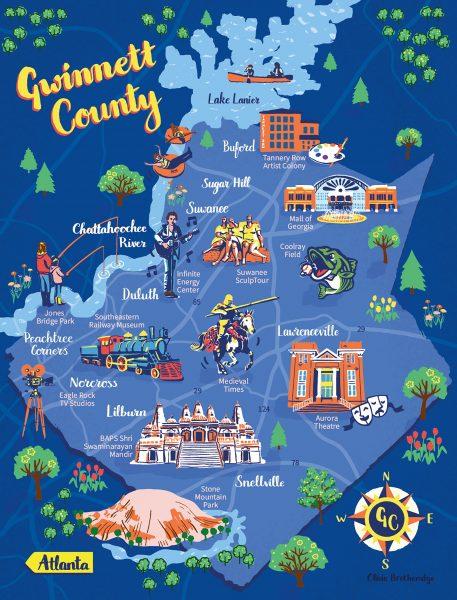 Gwinnett County map for Atlanta Magazine