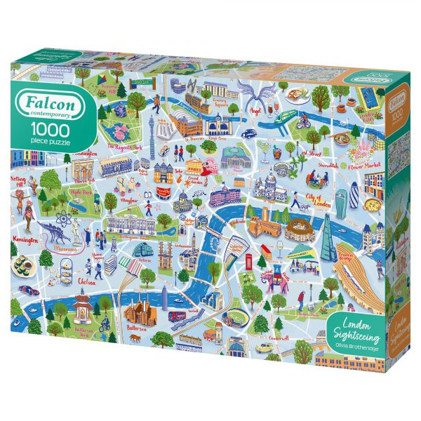 'London Sightseeing' map jigsaw puzzle for Falcon
