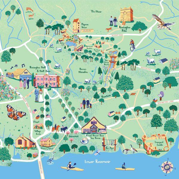 Countryside Map for Rivington Hall Barn