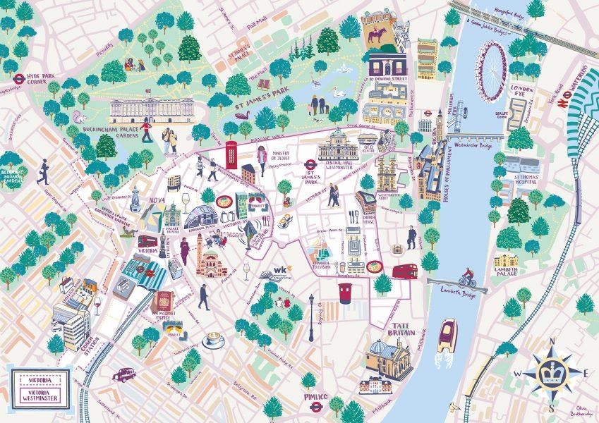 Victoria Westminster BID Map