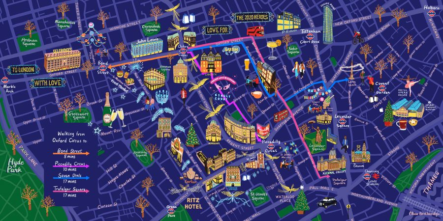 West End Oxford Circus Walking Map