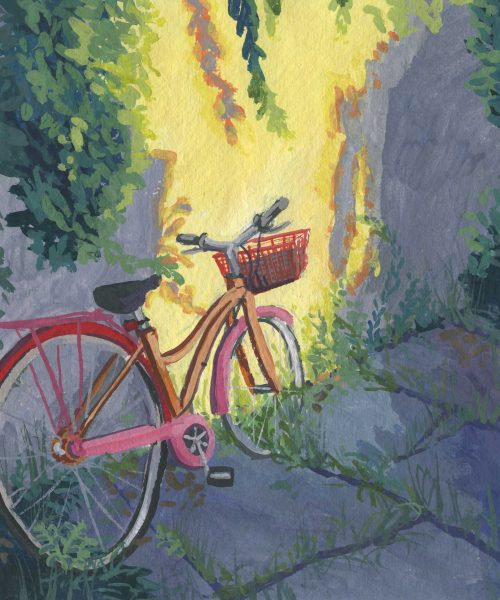 Bicycle in an alleyway