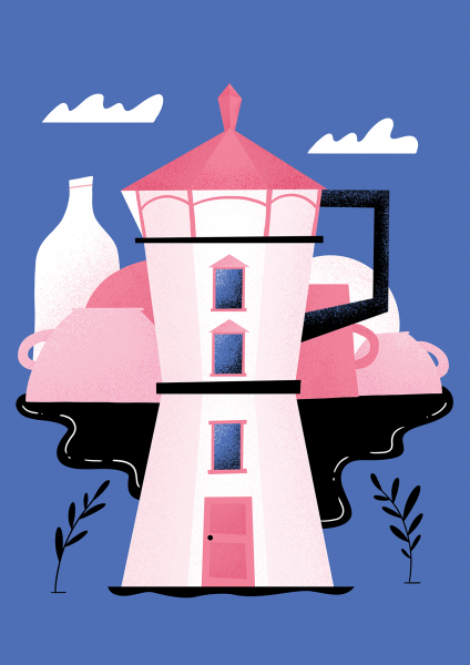 Moka pot lighthouse