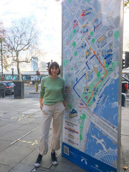 Northbank BID way-finding illustrated map