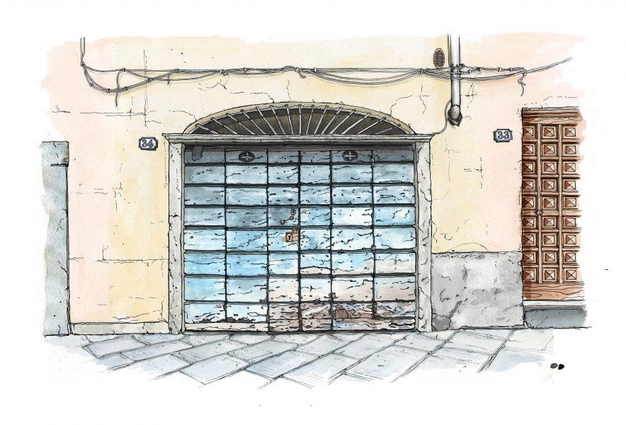 Porta de Cortile, Lucca