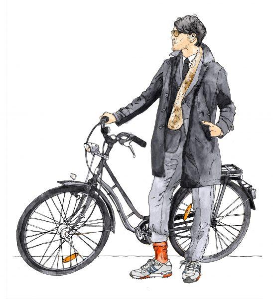 Stylish Cyclist, Tokyo