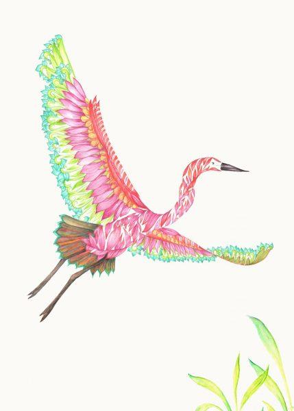 Fantasy Colourful Exotic Heron