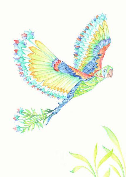 Fantasy Colourful Cuban Macaw