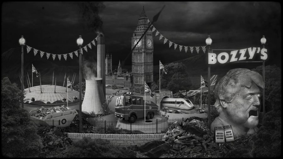 Michael Govern Ready - 'The Tories Do The Apprentice' Bozzy's Mini Golf (2021).